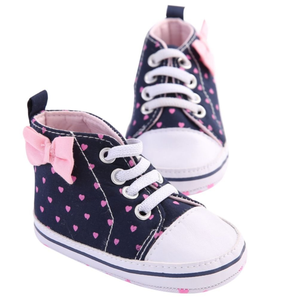 Lovely Cute Baby Girls Soft Shoes Spring Autumn Girls Kids Bow leisure love toddler shoes 0-18M