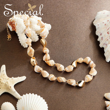 The SPECIAL New Fashion  marine wind natural seashell necklace, female clavicle chain, flatter skin slimming,S2001N
