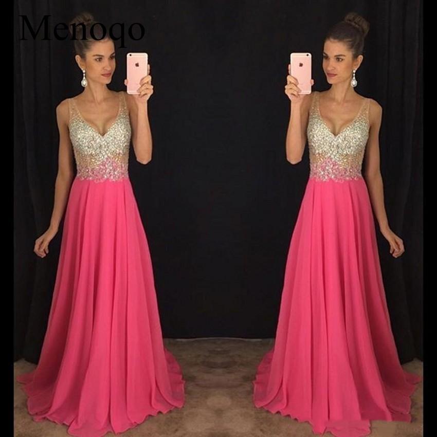 2019 New V-Neck Evening Dress Long Party Gowns Formal Pageant Celebrity Long Dress Vestidos De Novia 09184W