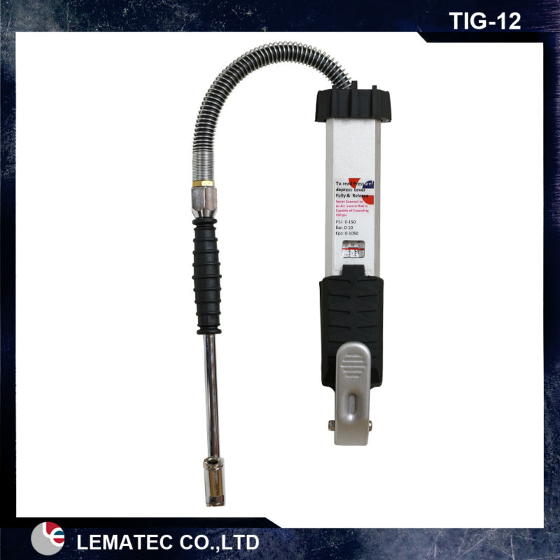 LEMATEC Pro Heavy tire inflator with gauge Tyre inflating tools for auto truck car tire repair tools Taiwan Made Tyre inflator lematec heavy duty car dual head tire inflator pressure gauge air chuck profession tyre air inflator gun air tools