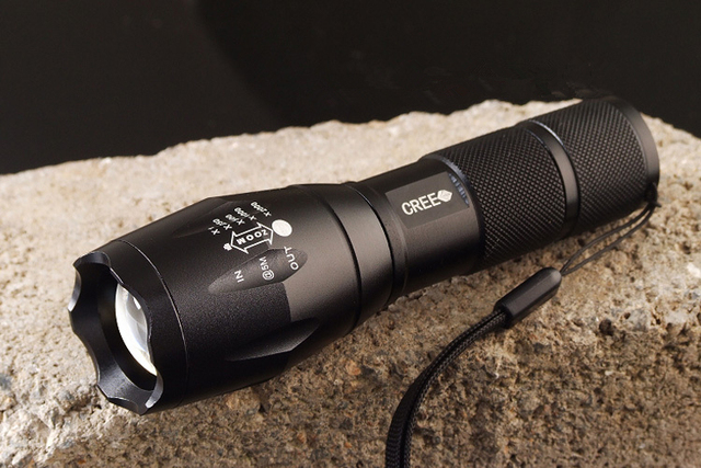 High Quality CREE Q5 5 Modes Zoomable Waterproof LED Flashlight Strong Lumens lanterna Torch light