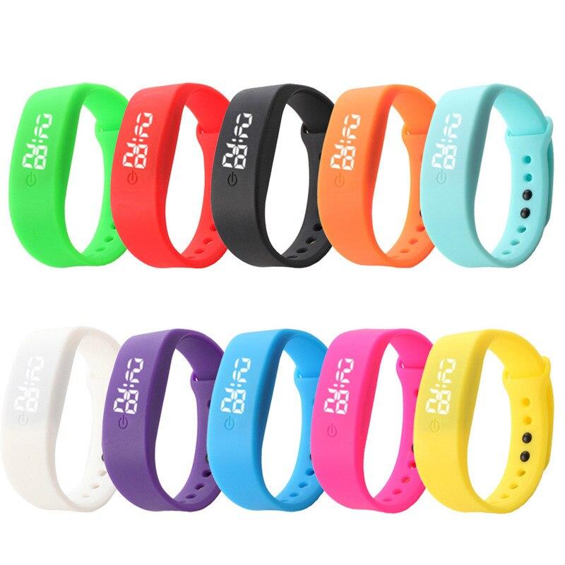 HL Женская обувь 2016 года Мужские резиновые светодиодные часы Дата спортивный браслет цифровые наручные часы подарок Relogio Feminino Masculino <font><b>Uhren</b></font> Relojes &#8230;