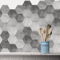 Modern Creative Hexagonal Fashion Thickened Waterproof Self adhesive Wallpaper Living Room Floor Sticker for Bathroom Kitchen