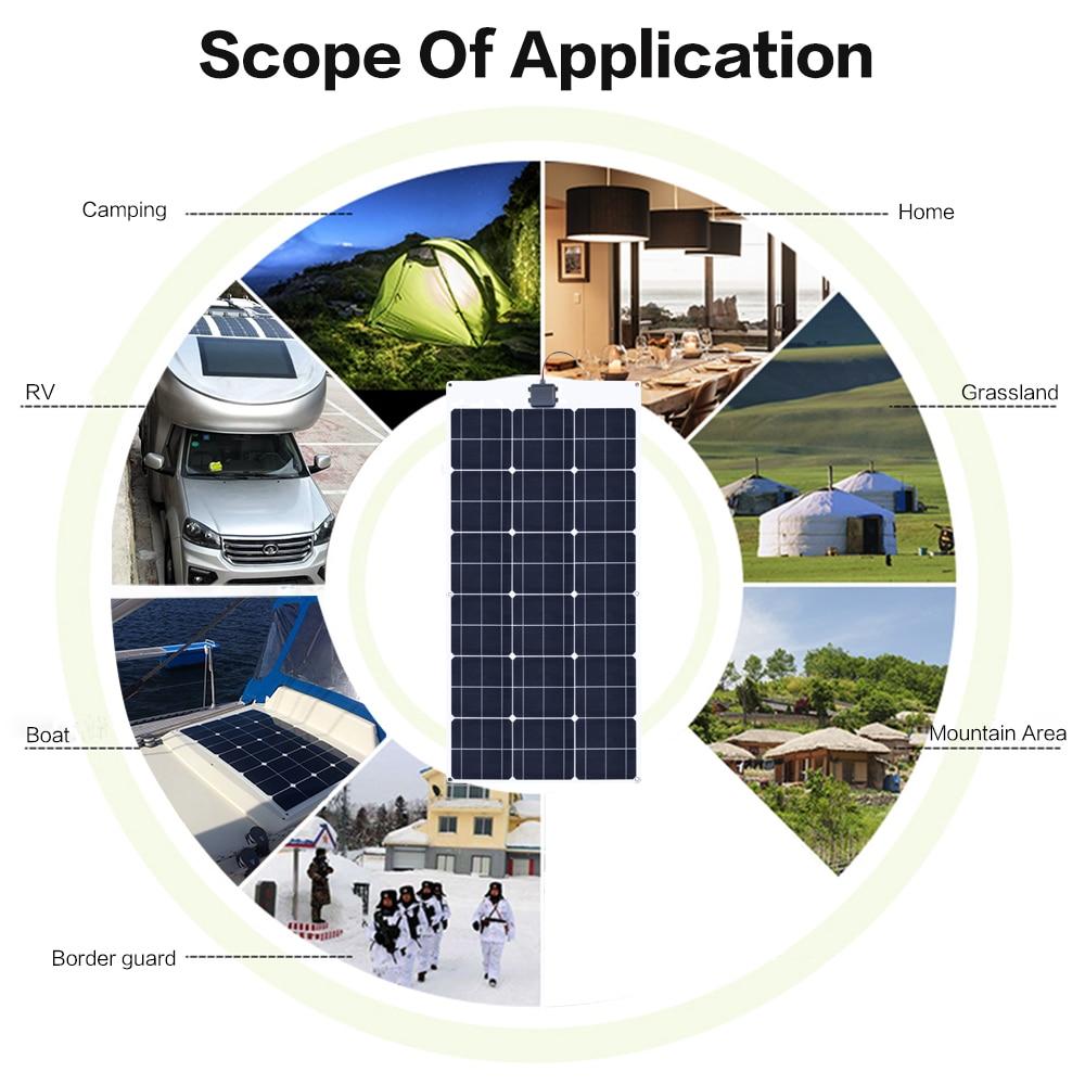 80W 18V Flexible solar panel 9