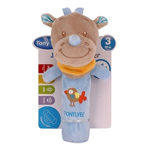 Image 3 - 新生児ガラガラリングベルベビー漫画の動物ガラガラかわいいぬいぐるみ動物の手の鐘幼児早期教育の人形のおもちゃ Y13