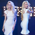 2017 Spring New Fashion Ladies Tight Package Hip Sheath Bodycon Dress Charming Simple Party Women Hollow Dress