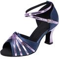 Loslandifen Social das mulheres Latino sapatos de dança de salão sapatos de dança sapatos de salto alto mulher bombas peep toe que bling sapatos de fivela 33-43