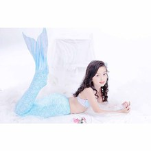 5 pcs / set The Little Children Mermaid Tail Costume Princess Ariel Cosplay for the Girl Swimsuit