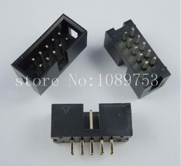 50pcs IDC Box header DC3 DC3-10P 2x5 10 pins 10P 2.54mm Pitch