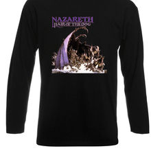 c7bd8a453b6043 NAZARETH  Hair of The Dog Rock Band Legend Long Sleeve Black T-Shirt Size