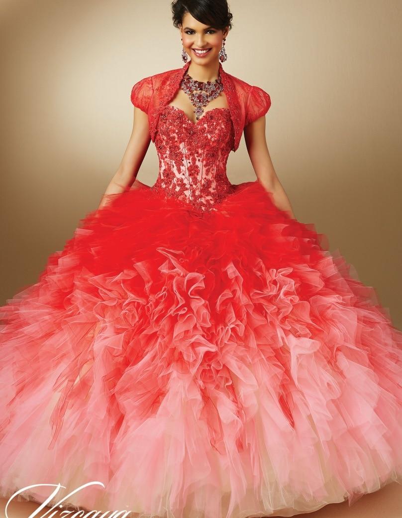 Red Sweet 16 Cinderella Dresses