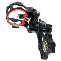 5 pins 019 Optical Fiber Compound Bow Sight Micro Adjustable Bow Sight with Light Outdoor Hunting Athletics Bow Sight