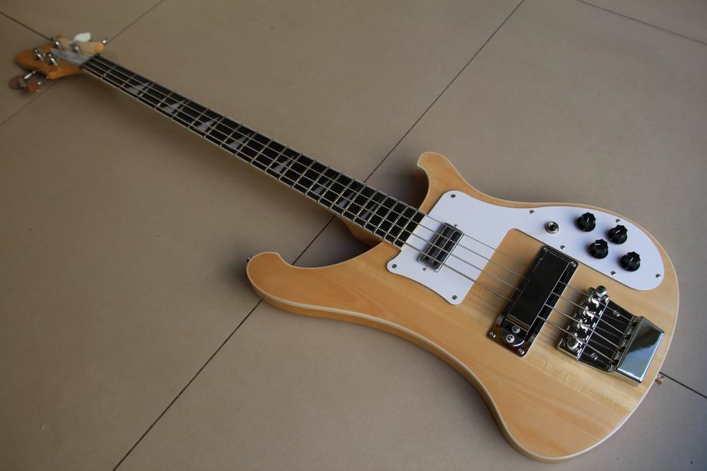 Free Shipping 4003 Bass Electric Bass Guitar 4 string bass In Natural Wooden 111226 New Arrival