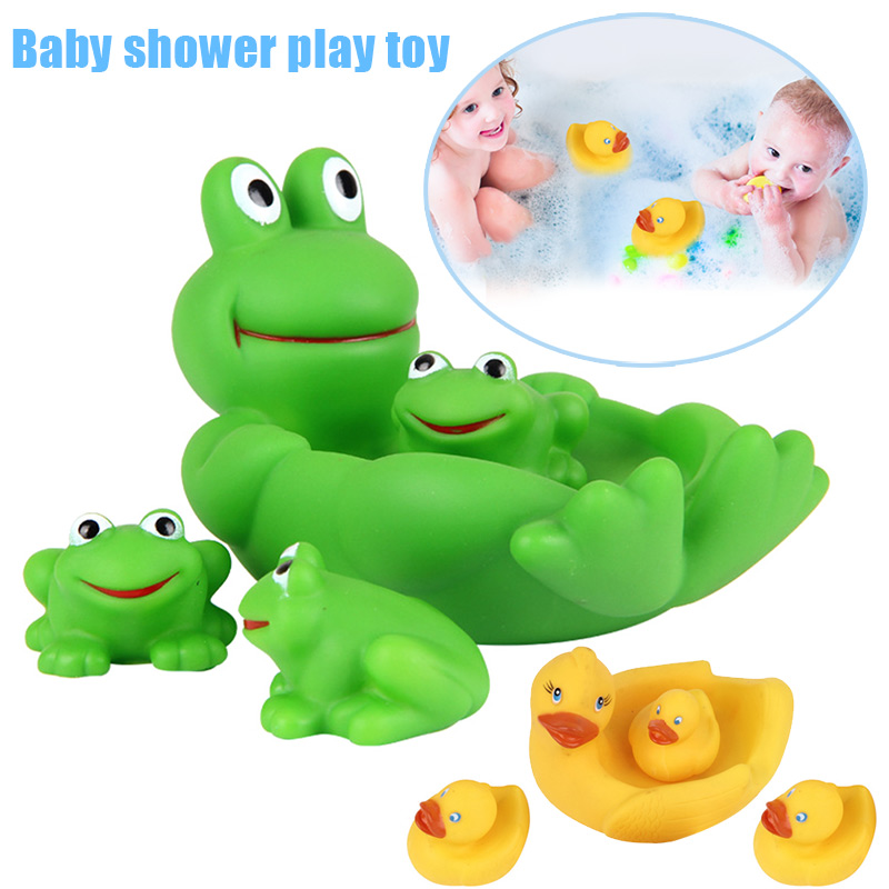 4pcs Floating Bath Play Set Kids Fun Water Bathtub Toys Non Toxic Playing Kit Tub Pool Beach Toy @ZJF