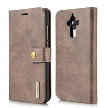 Retro Style Wallet Cover Genuine Leather Case for Huawei Mate 9 Luxury Brand Phone Case 2 in 1 Detachable Flip Magnetic Cover