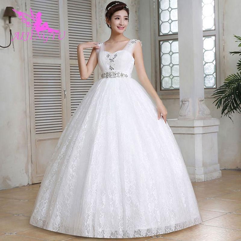 AIJINGYU 2018 Beautiful Free Shipping New Hot Selling Cheap Gown Lace Up Back Formal Bride Dresses Wedding Dress WU277