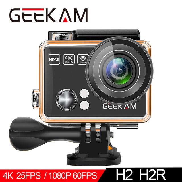 Cámara de Acción GEEKAM H2R/H2 ultrafino HD 4 K/25fps WiFi 2,0 «170D impermeable subacuático casco de bicicleta deportes extremos Video Cam
