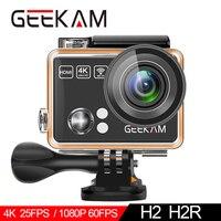 GEEKAM Action Camera H2R/H2 Ultrathin HD 4K/25fps WiFi 2.0 170D Underwater Waterproof Bicycle Helmet Extreme Sports Video Cam