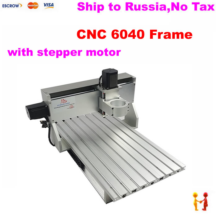 assembled CNC frame 6040 With stepper motor DIY cnc router spare parts with limit switch hot sale diy cnc frame 2020 with motor