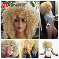 Natural Cheap Hair Wig Kinky Curly Synthetic Fiber Hair Wigs For Black & White Women Perruque Synthetic Women Bob Cosplay Wigs