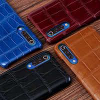 Lüks Timsah Deri Kılıf Için Xiaomi 9 9se 8 6 kılıf en iyi cep telefonu kabuk Kapak Redmi için Not 5 6 gerçek Deri Coque