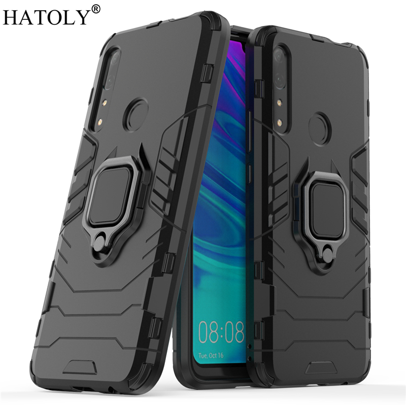 Huawei Y9 Prime 2019 Case Cover for Finger Ring Phone Hard PC TPU Armor For