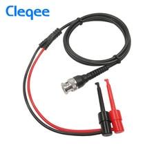 Cleqee P1007 BNC штекер Q9 к двойному крюку зажим тестовый зонд кабель провода 120 см с двумя мини зондами 500 В 5A IC тестовый крюк