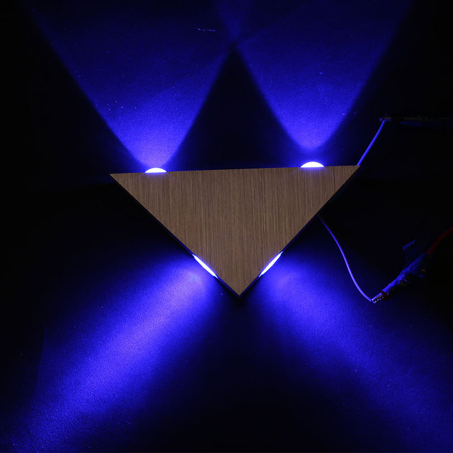 blue lamp sconce 4w led triangle wall light sconce spot metal mood lamp bedroom