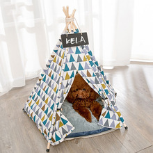 JORMEL Portable Dog Tent Dog Bed Cat Toy House Washable Pet Teepee House Print Pattern Not Included Mat