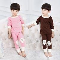 2017 Kids Korea Style Pajamas Sets For Boys Girl Thicken Warm Pyjamas Sets Children New Fashion