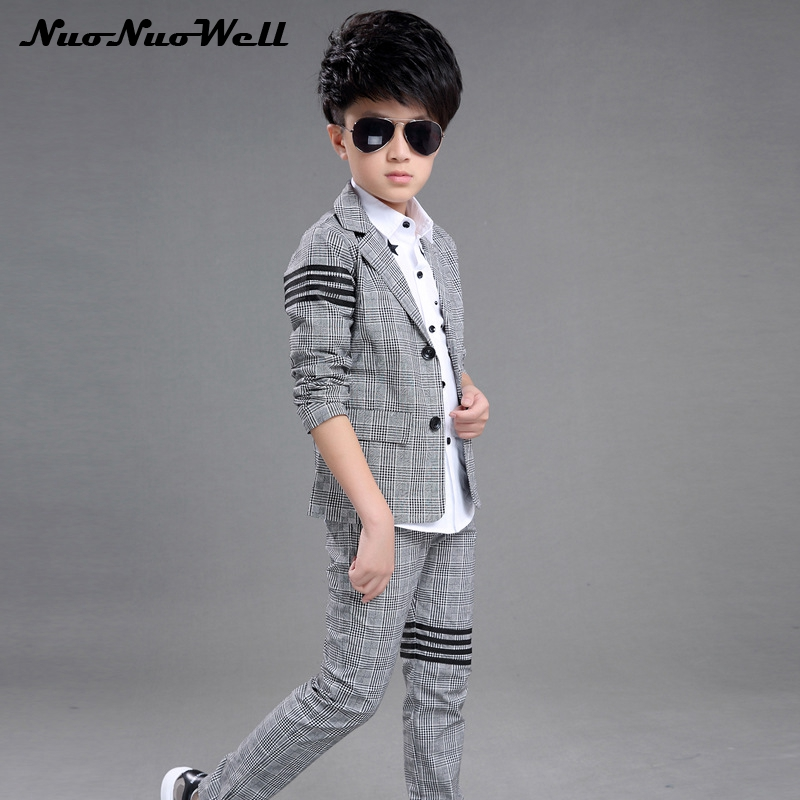 Teenager Boy's Blazers Suit Children Wedding Suits Party Clothing Boys Dresses Boys Gentle Suits Coat+Pant 2Pcs Kids Formal Sets цена 2017