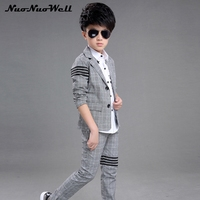 Teenager Boy's Blazers Suit Children Wedding Suits Party Clothing Boys Dresses Boys Gentle Suits Coat+Pant 2Pcs Kids Formal Sets
