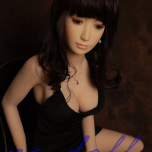 2016 145cm Top Quality Full Size Silicone Sex Doll For Men,realistic Love Adult Toys Artificial Vagina Pussy Black dress