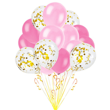 Gold Color Confetti Party Decoration Balloons Set