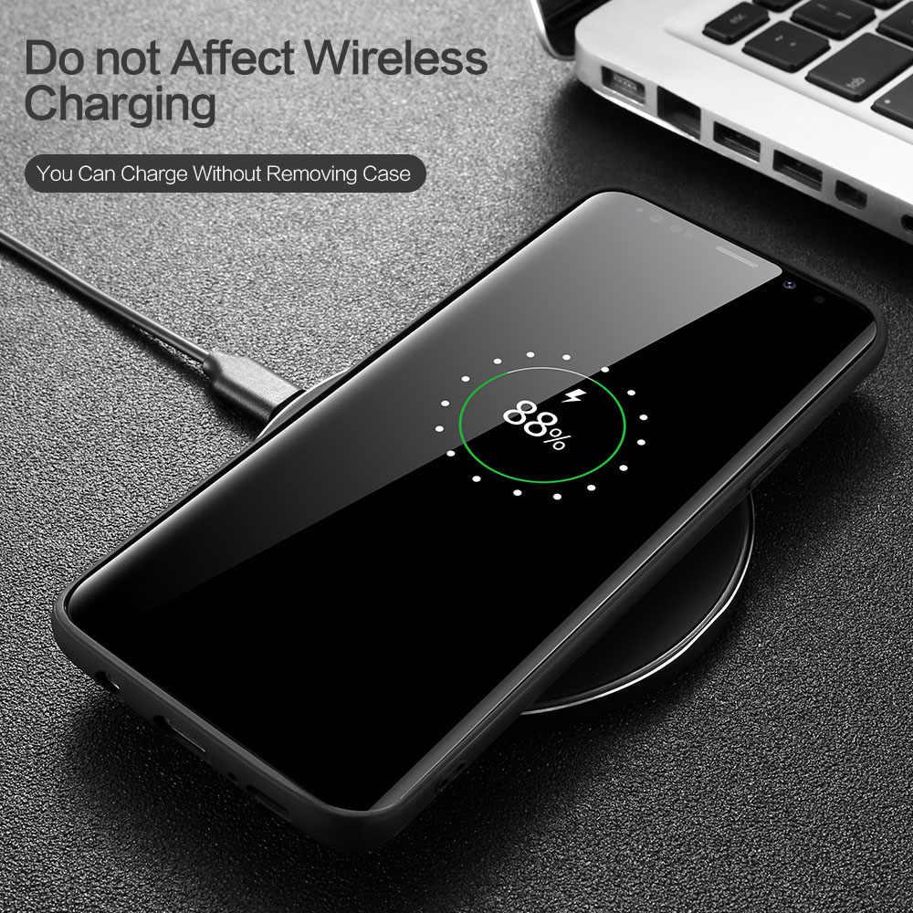 KISSCASE Funda de cuero de tela para Samsung Galaxy S8 S9 Plus S7 Edge Note 9 8 funda de teléfono para Samsung A6 a7 A8 A9 J4 J6 J8 2018 A6S
