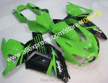 New ZX-14R 06-11 Fairings Set For Ninja ZX14R 2006-2011 Black Green Sport Fairing Kits (Injection molding)