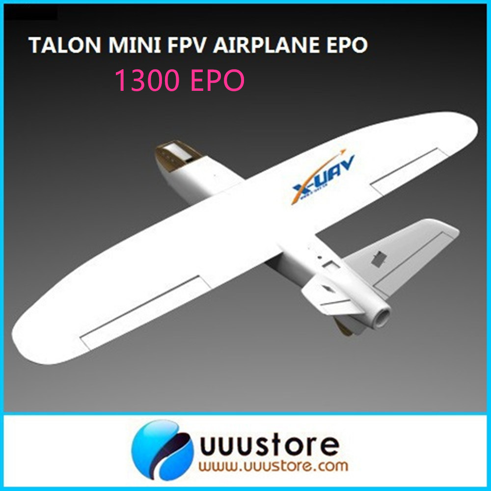 X-uav Mini Talon EPO 1300mm Wingspan V-tail UAV White air FPV RC Model Radio Remote Control fpv Airplane Aircraft Kit цены