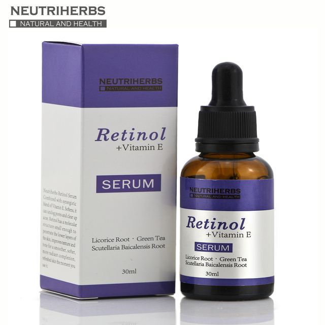 Neutriherbs Natural Moisturizing Retinol Serum Hydrating Vitamin E Collagen 30ML Contain 0.5% Retinol Skin Acne Skin Care