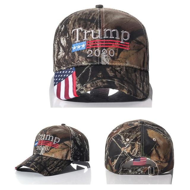 Donald Trump 2020 czapka z daszkiem USA flaga kapelusz kamuflażowy prezenty XRQ88