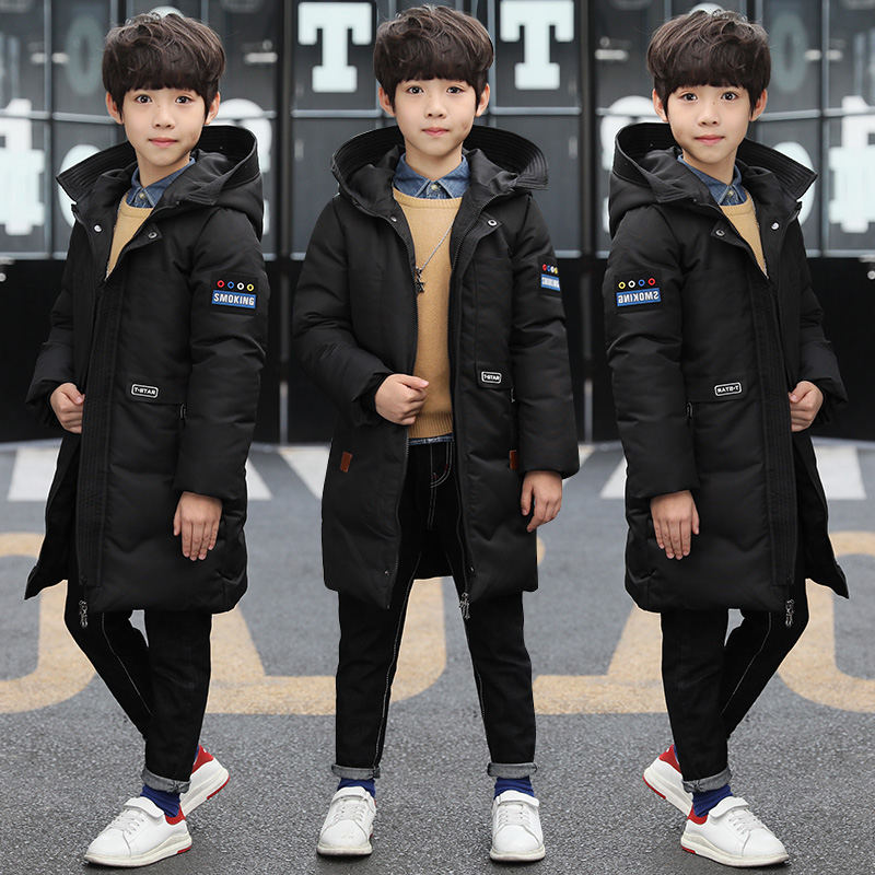 2018 New Children Jacket Big Boy Winter Long Coat Children Cotton Parka Outerwear Jackets Coats Boys Overcoat Snowsuits Costume winter jacket woman parka fem me hiver women s long coats and jackets plus big size black navy hood jazzevar miegofce 2018 new