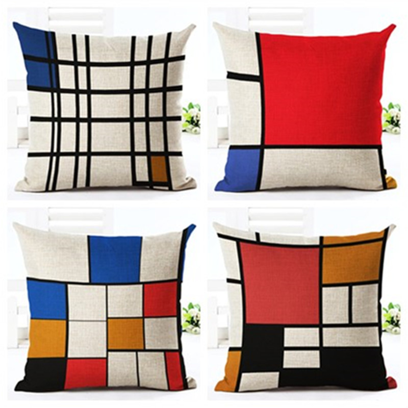 Unique geometric printed decor decor cushion pillow car - Fundas cojines sofa ...