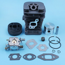 Cylinder Piston Carburetor Carb Gasket Kit For Partner 350 351 370 371 420 390 391 Formula 5000 Chainsaw 41mm Nikasil Plated