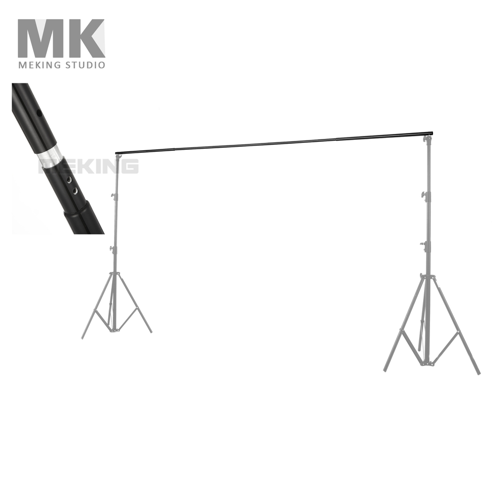 2.8m / 9.2ft Background Cross Bar Photography Photo Studio Video Background Backdrops Support Crossbar For Light Stand Tripod