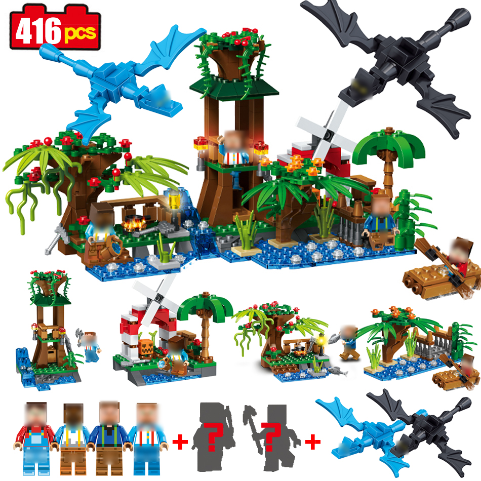416pcs Minecrafted Models Small Figures Building Blocks Compatible Legoing Minecraft City Bricks Toys For Children Xmas Gifts minecrafted building blocks toys bricks figures compatible legos minecraft friends city toys birthday gift for kids gift toys