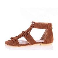 2017 Flat Heel Open Toe Sandals Fashion Tassel Women S Student Shoes Casual Plus Size Small