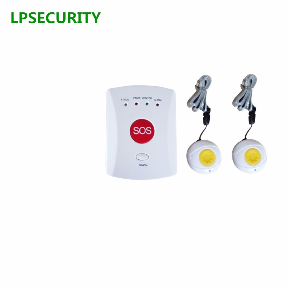 LPSECURITY GSM Panic SMS Alert Emergency Alarm for Elderly/Kids/Patient with SOS Button(white color host 2 buttons)LPSECURITY GSM Panic SMS Alert Emergency Alarm for Elderly/Kids/Patient with SOS Button(white color host 2 buttons)