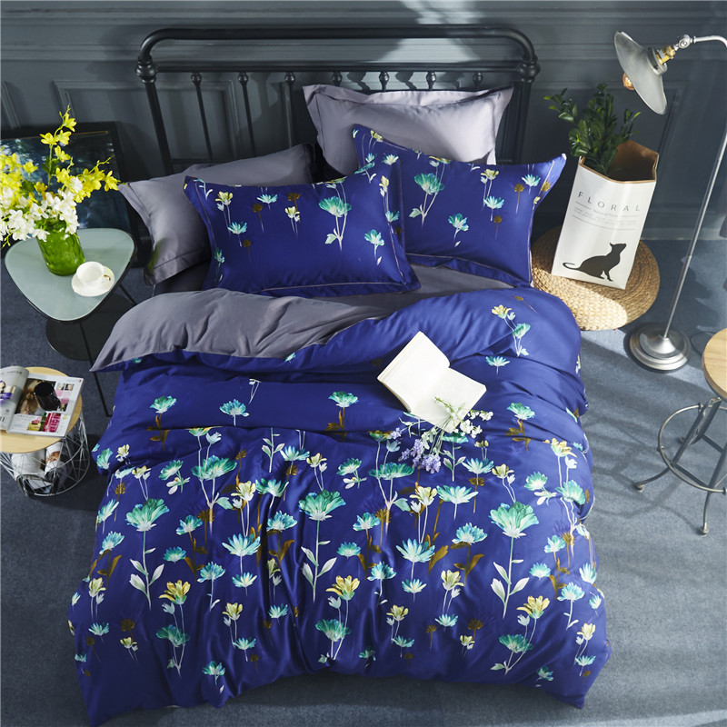 Pastoral style Thick cotton bedding Set for bed Duvet Cover set queen king size bed set printed sheet bedPastoral style Thick cotton bedding Set for bed Duvet Cover set queen king size bed set printed sheet bed