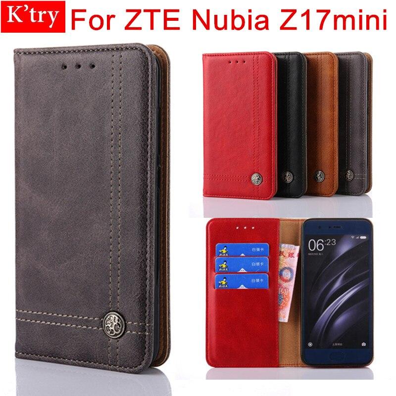 Case For ZTE Nubia Z17 mini Cover Vintage Leather Flip Wallet Case For ZTE Nubia Z17mini Phone Bag Coque
