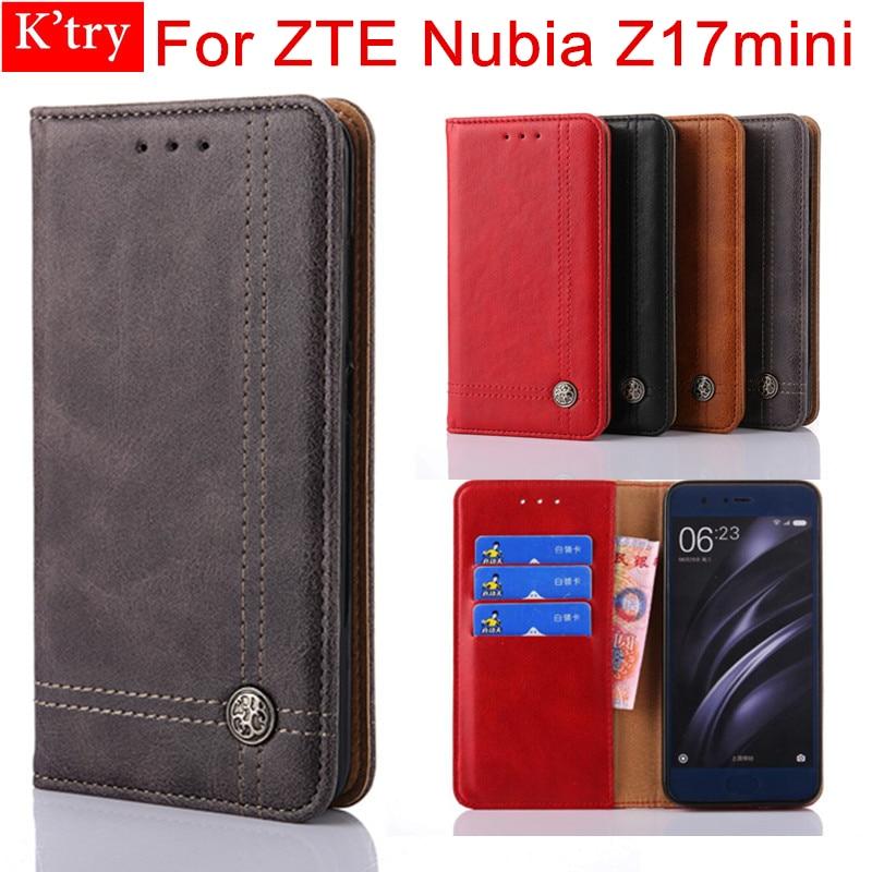 Fall Für ZTE Nubia Z17 mini Abdeckung Vintage Leder Flip Brieftasche Fall Für ZTE Nubia Z17mini Handytasche Coque