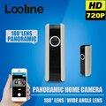 Câmera panorâmica ip wi-fi sem fio da câmera de vigilância wi-fi camara de segurança fisheye 180 graus cctv motion detection câmera em casa